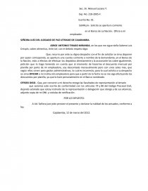 Carta de cierre de cuenta bancaria – Plantilla