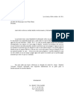 Carta de disputa de facturas de agua – Plantilla