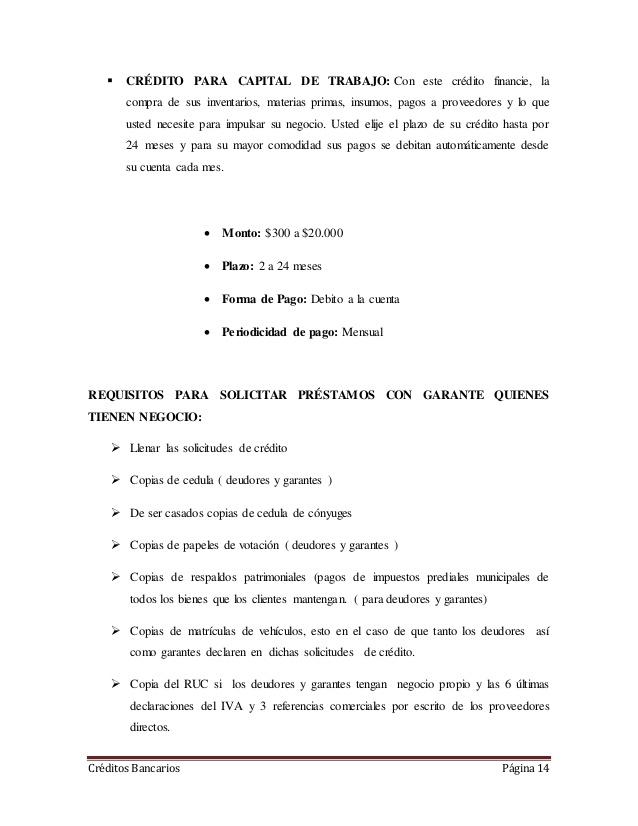 [Muestra] Carta de solicitud de préstamo de capital de trabajo